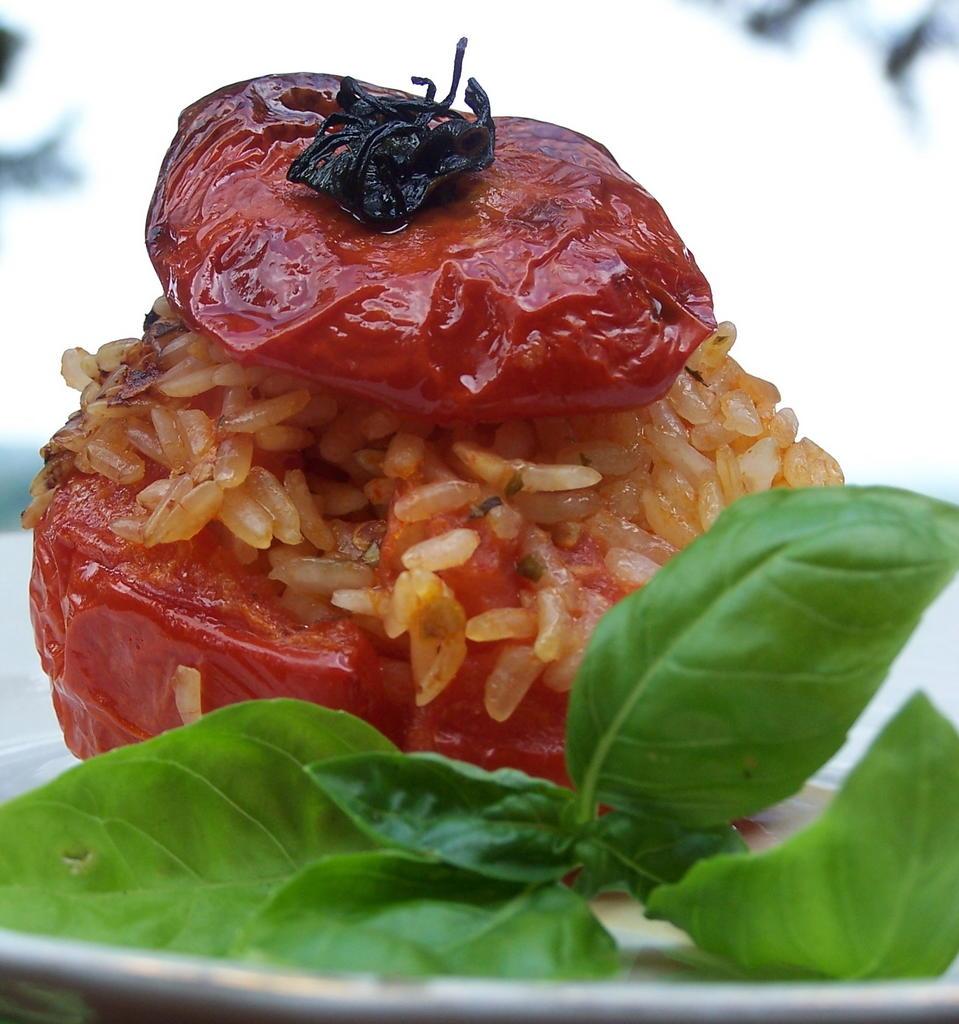Pomodori Ripieni- Stuffed Tomatoes - Divina Cucina