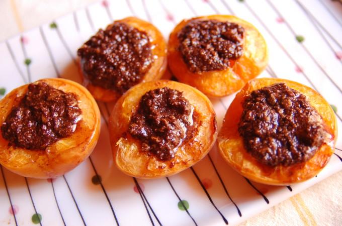 Italian Amaretti Apricots- Summer Food Fest- Stone Fruits