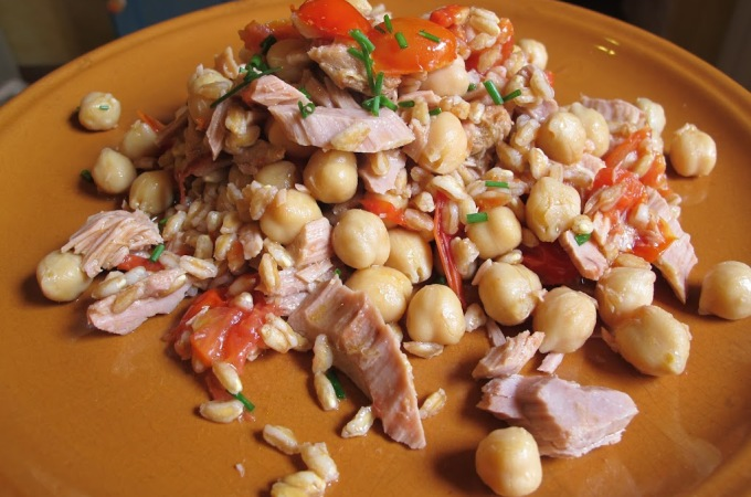 Farro Salad Revisited- Changing Seaons