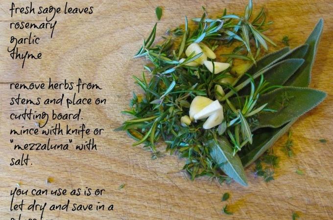 "Tuscan Herb Recipe- Pancetta ""Porchetta-style"""