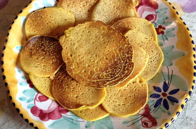 Tuscan Fall Pleasures- Chickpea Pancakes